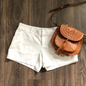 Summer Ready White Embroidered Shorts